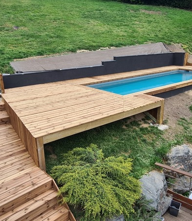 habillage bois piscine